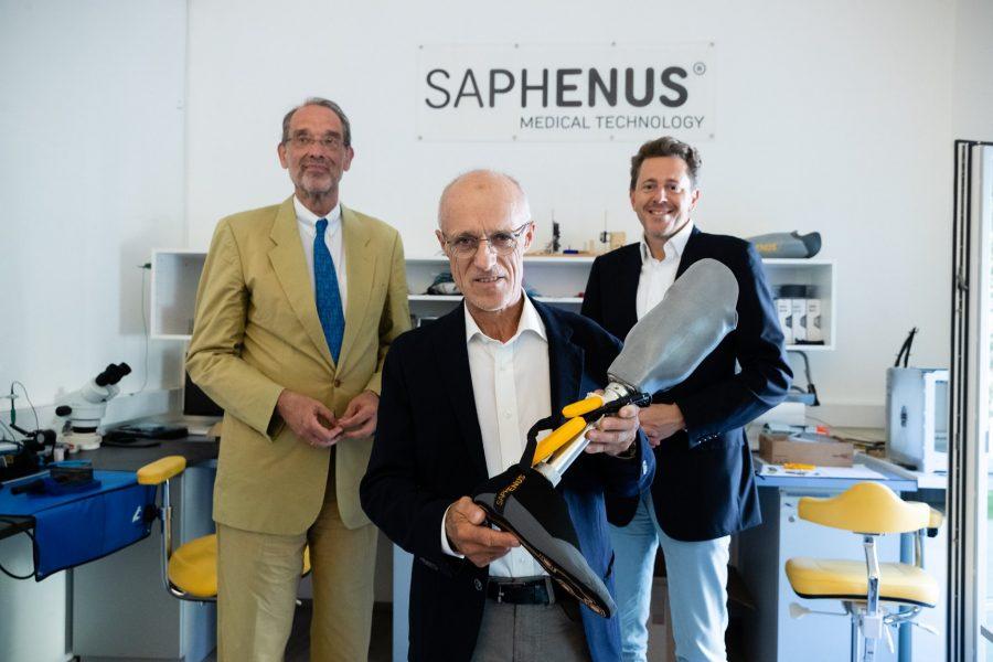 Besuch von Heinz Faßmann mit WKO Präsident Harald Mahrer bei SAPHENUS