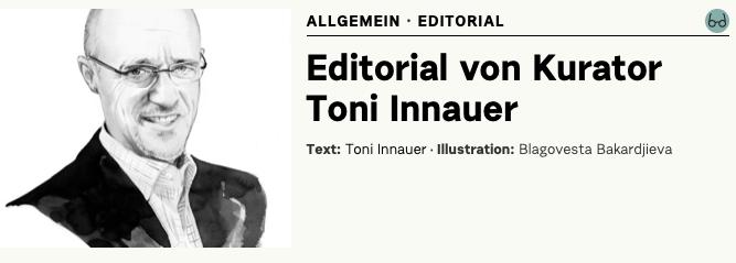 Editorial von Kurator Toni Innauer